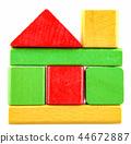 Children's wooden blocks for play 44672887
