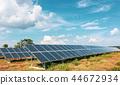 Solar panels at a solar power plant 44672934