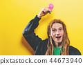 Funky fashion man with dreadlocks 44673940