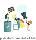 small girl shopping 44674344