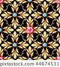 Seamless baroque pattern 4 44674531