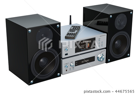 Home Stereo System, 3D rendering 44675565