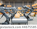 Automatic warehouse with robotic arms 44675585