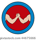Arm Wrestling Logo Competition Round Pictogram 44675666