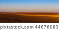 Autumn landscape with agricultural land 44676083