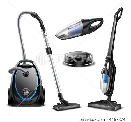 Realistic Vacuum Cleaners Set 44678742