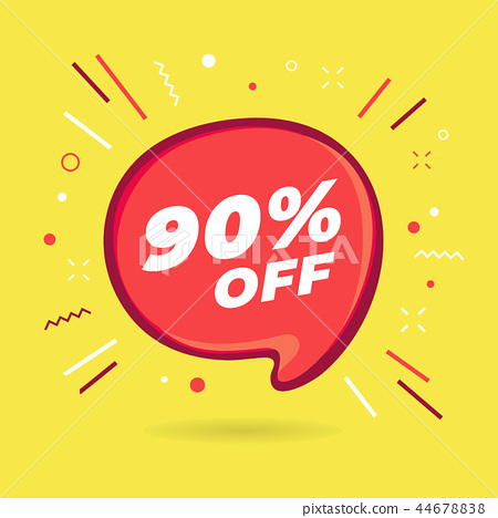 Special offer sale red bubble 90% off discount. 44678838