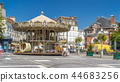 Carousel on the main square of Fontainebleau timelapse hyperlapse 44683256