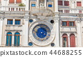 Closeup on Astronomical clock timelapse in square San Marco, Venice, Italy. 44688255