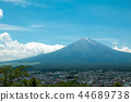Fuji mountain with nice blue sky 44689738