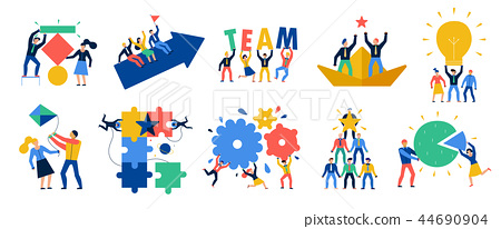 Teamwork Icons Set 44690904