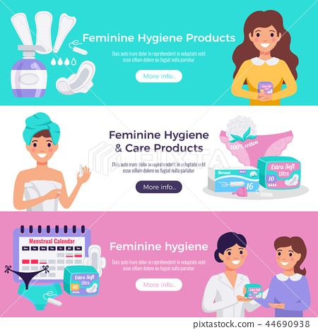 Feminine Hygiene Flat Banners 44690938