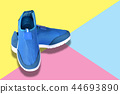Sports shoes for walking, isolated 44693890