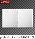 Close up of a leaflet blank white paper 44694770