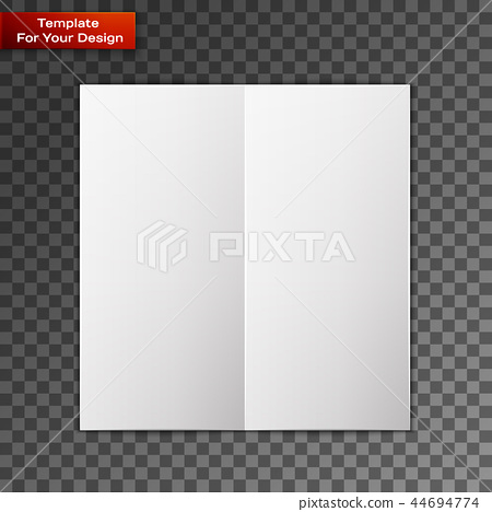 Close up of a leaflet blank white paper 44694774