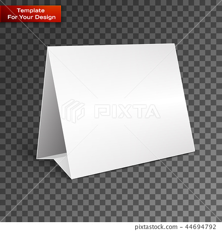 Blank paper table cards. 44694792