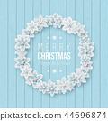 snowflake, christmas, wreath 44696874