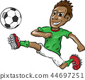 fun soccer player cartoon 44697251