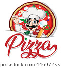 chef, pizza, italian 44697255