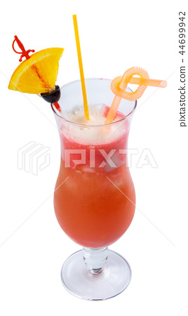 Hurricane alcohol cocktail with lemon and olive 44699942