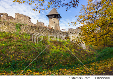walls and main tower of medieval Nevytsky castle 44699966
