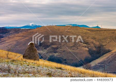 gloomy late autumn in mountainous rural area 44699973