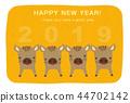 新年贺卡 贺年片 漂亮 44702142
