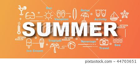 summer vector trendy banner 44703651