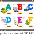 alphabet education cartoon 44705403