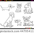 cartoon purebred dog characters color book 44705411