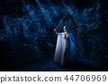 Elf girl in night forest version 44706969