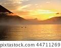 Okunikko Chuzenji Lake Sentegahama Duck on the morning and foggy lake surface 44711269