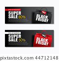 Black friday sale shopping bag for cover banner 44712148