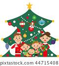 聖誕樹和家庭 44715408