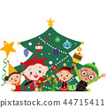 圣诞树 矢量图 微笑 44715411