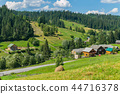 green meadows of rural farms and magnificent natur 44716378