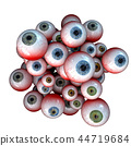 Eyeballs, Creepy cluster of bloody halloween eyes 44719684