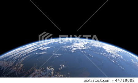Earth view from space or spacestation in low orbit 44719688