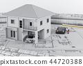计划 房屋 蓝图 44720388