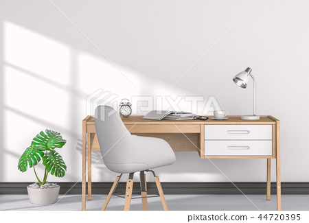 Interior of home office. 3d render. 44720395