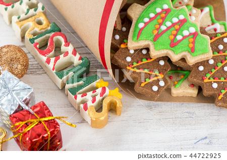 生日八勝克勝聖誕節餅乾餅乾薑餅聖誕節 44722925
