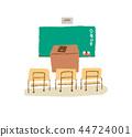教室 插图 手绘 44724001