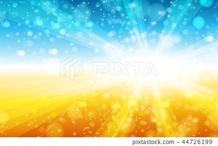 blue and yellow orange summer sun light burst. 44726199