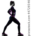 woman runner running jogger jogging isolated silhouette shadow 44726546