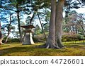 View of the garden path, cherry blossoms and lanterns near Kenrokuen and Bairin (2) 44726601
