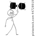 dumbbell muscular man 44728919