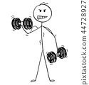dumbbell muscular man 44728927