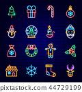 christmas, santa, neon 44729199