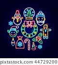christmas, santa, neon 44729200