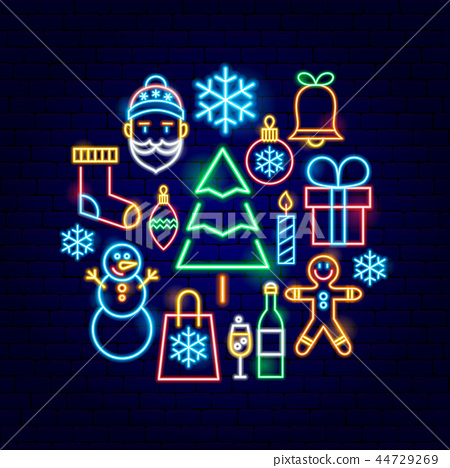 Christmas Neon Concept 44729269